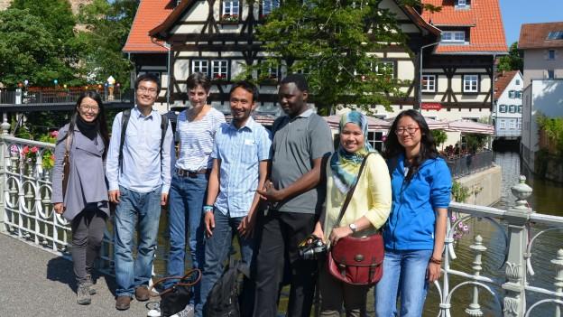 Stipendiaten bei Stadtrundgang in Esslingen