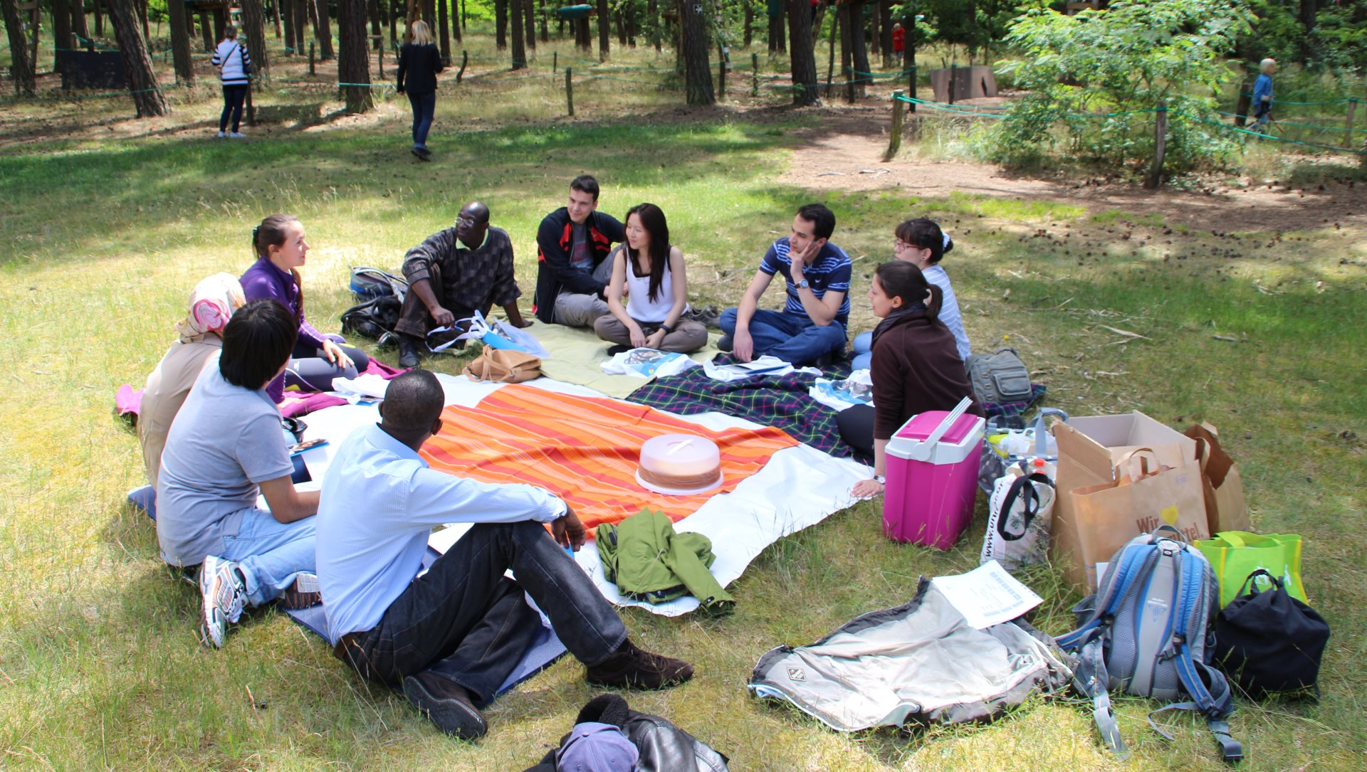Picknick im Kletterwald