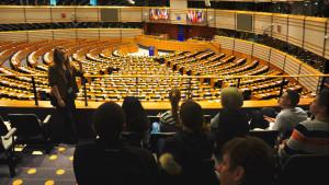 Stipendiaten zu Besuch im Europäischen Parlament