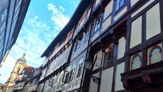Fachwerkhäuser in der Göttinger Innenstadt