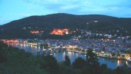 Blaue Stunde über Heidelberg