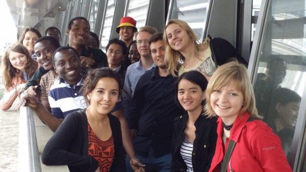 Bonner Stipendiaten auf einem Schiff in Berlin